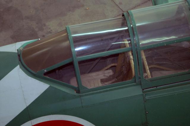 "A view of the rear seat of the reproduction Nakajima B5N ""Kate"""